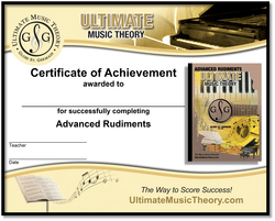 Advanced Rudiments Certificate of Achievement