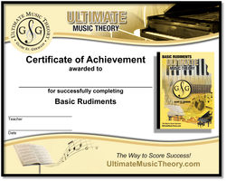 Basic Rudiments Certificate of Achievement