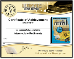 Intermediate Rudiments Certificate of Achievement