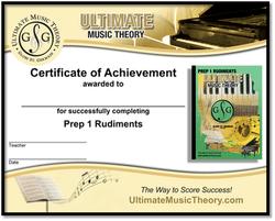 Prep 1 Rudiments Certificate
