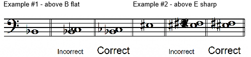harmonic 2nd note - examples - Harmonic Intervals using Accidentals