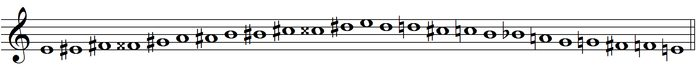 melodic chromatic scale - variation form