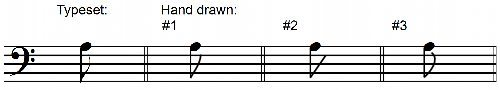 Correct Written Single Flags Descending Eighth Notes