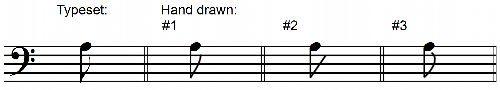 Correct Written Single Flags Descending Eighth Notes