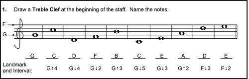 descending musical alphabet - correct answers
