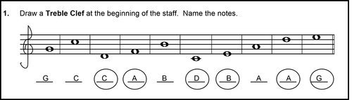 descending musical alphabet - incorrect answer