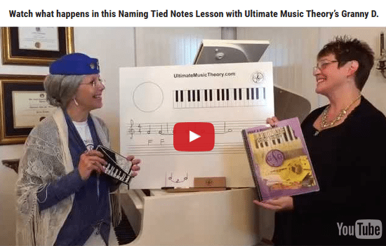 Naming Tied Notes Lesson with Granny D