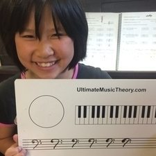 Use the Whiteboard to draw Bass Clef Signs