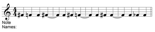 Naming Tied Notes with Accidentals Pop Quiz Question