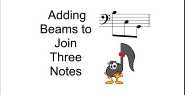 Adding Beams To Join 3 Notes