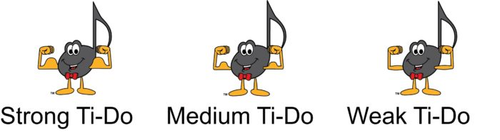 No Dotted Rests - Strong, Medium and Weak Ti-Do