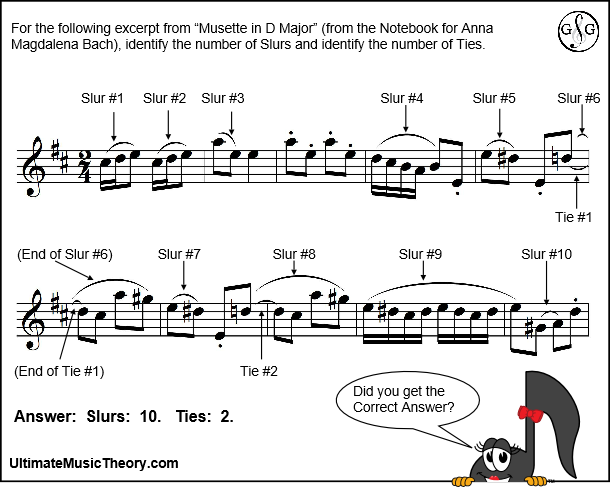 Answer - Counting Slurs - Musette in D Major