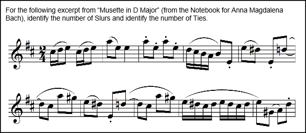 Counting Slurs - Musette in D Major Exercise