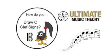 Draw C Clef Signs