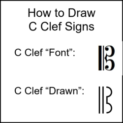 Draw C Clef Signs Properly