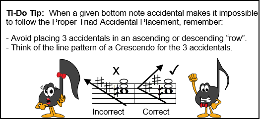 Triad Accidentals Ti Do Tip for 3 Accidentals