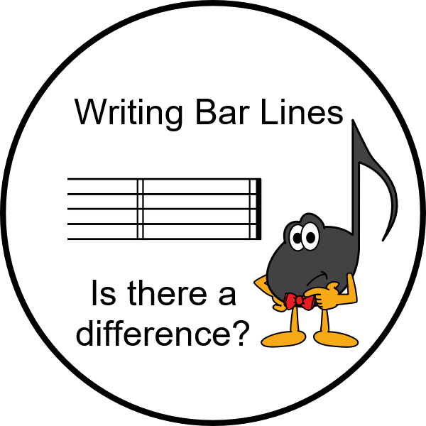Writing Bar Lines Is There a Difference