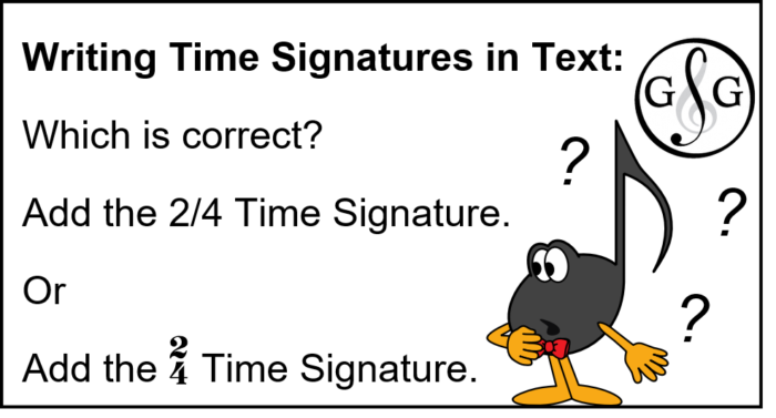 Writing Time Signatures and not Fractions in Text