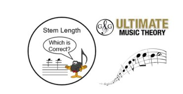 Music Note Stem Length