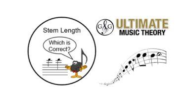Music Note Stem Length