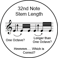 32nd Note Stem Length Hmmm