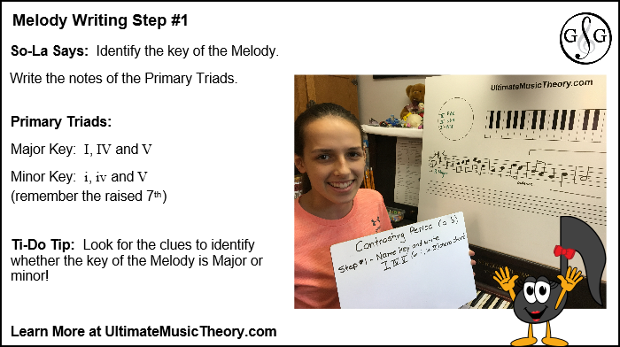 UMT Melody Writing in 5 Steps - Step 1
