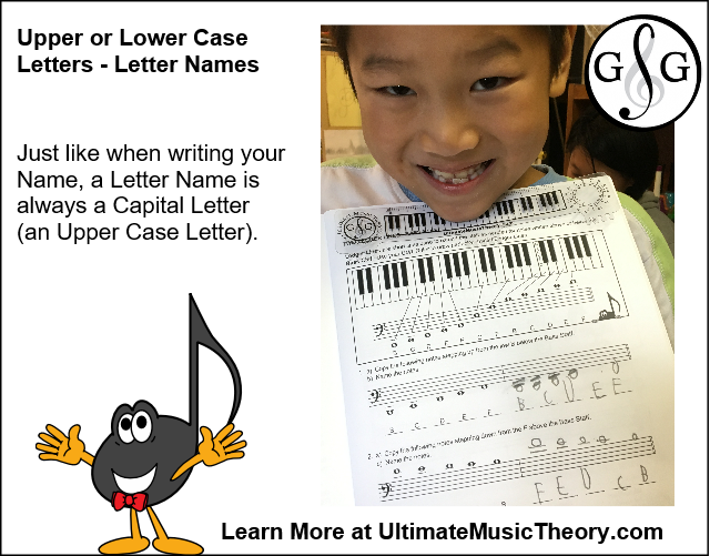 Letter Name Upper or Lower Case Letters