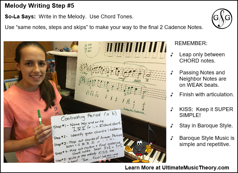 Melody Writing in 5 Step - step 5