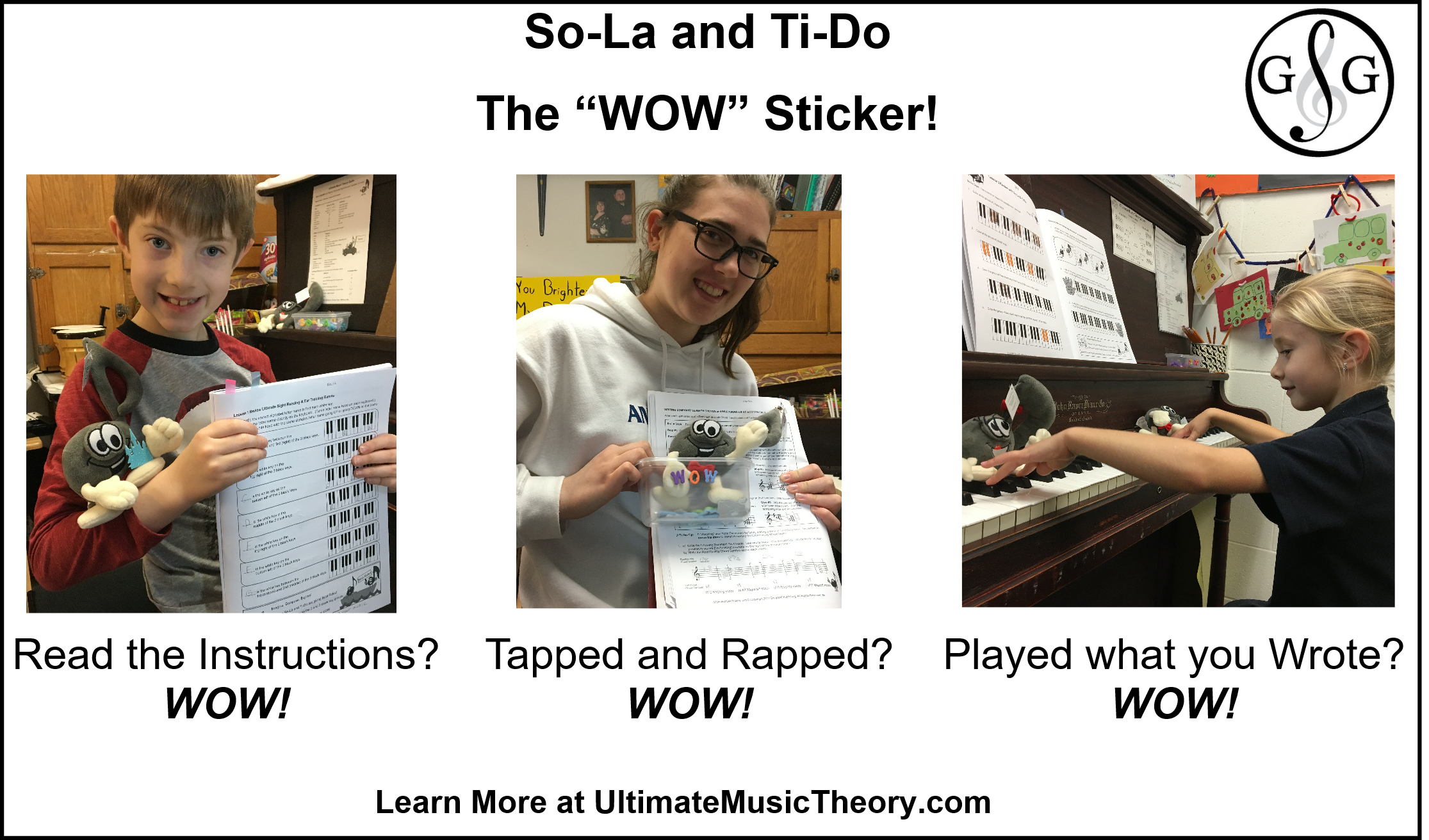 UMT - So-La and Ti-Do The Wow Sticker