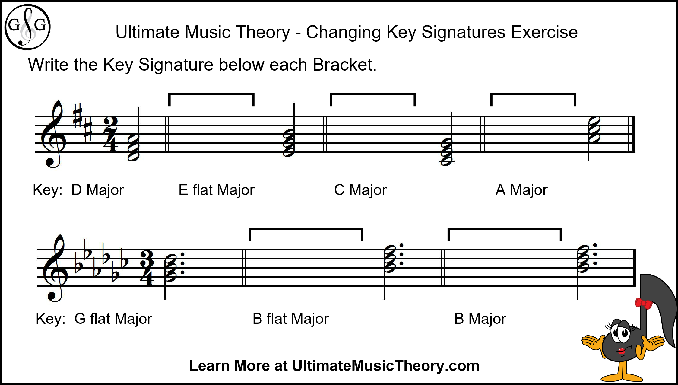 Ultimate Music Theory Changing Key Signatures Exercise