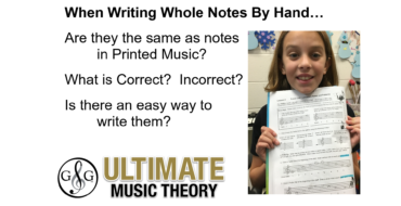 Writing Whole Notes