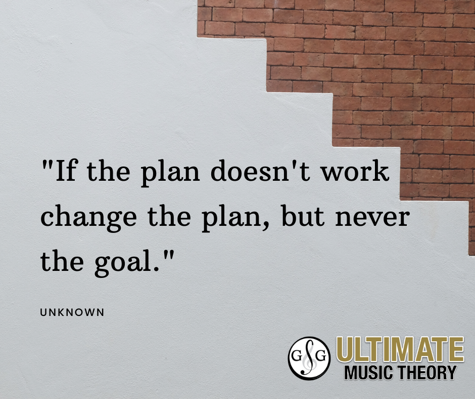 UMT_If the plan doesn't work change the plan, but never the goal. Motivation Monday_