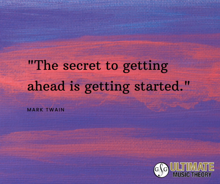 UMT_The secret to getting ahead is getting started. Motivation Monday_