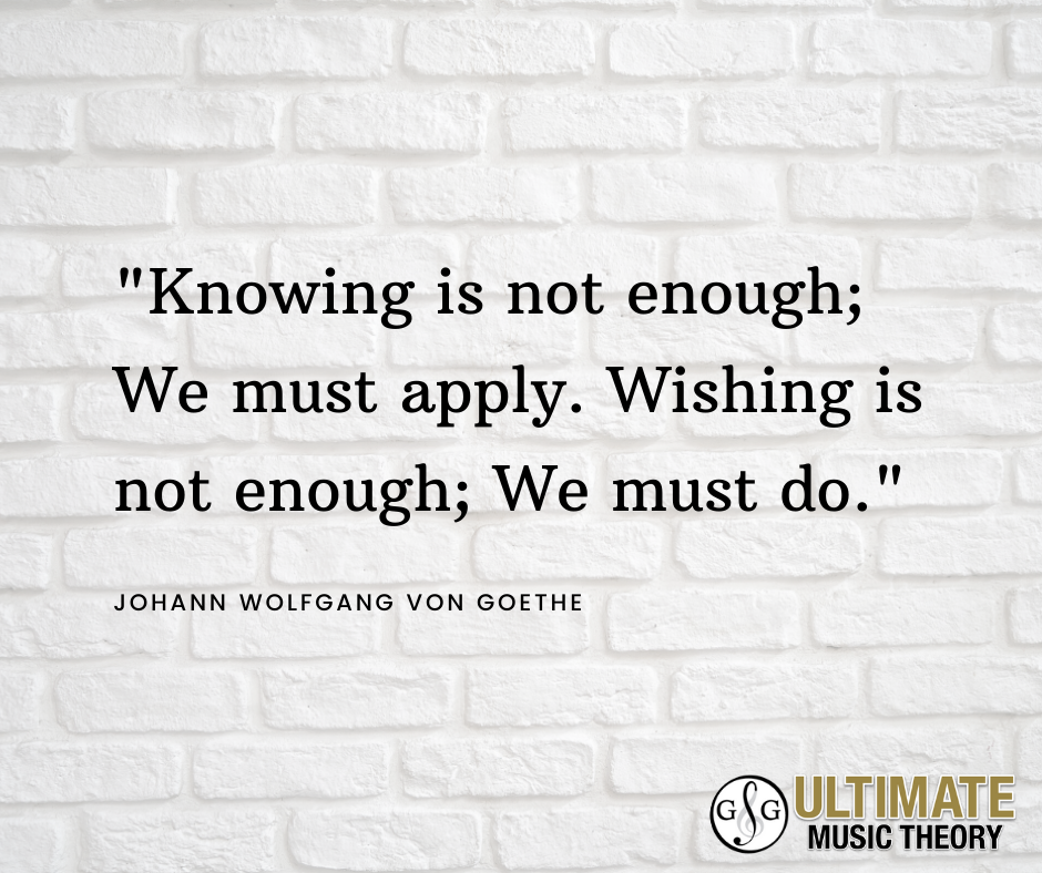 UMT_Knowing is not enough; We must apply. Wishing is not enough; We must do. Motivation Monday_