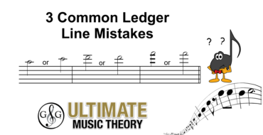 Ledger Line Mistakes