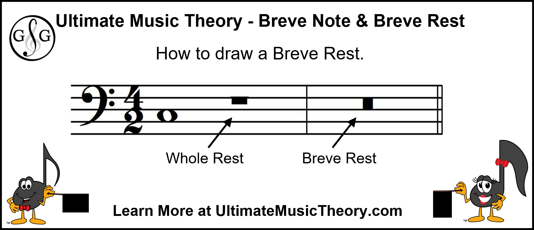 Ultimate Music Theory - How to draw a Breve Rest
