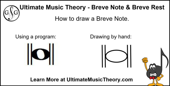 Ultimate Music Theory How to draw a Breve Note