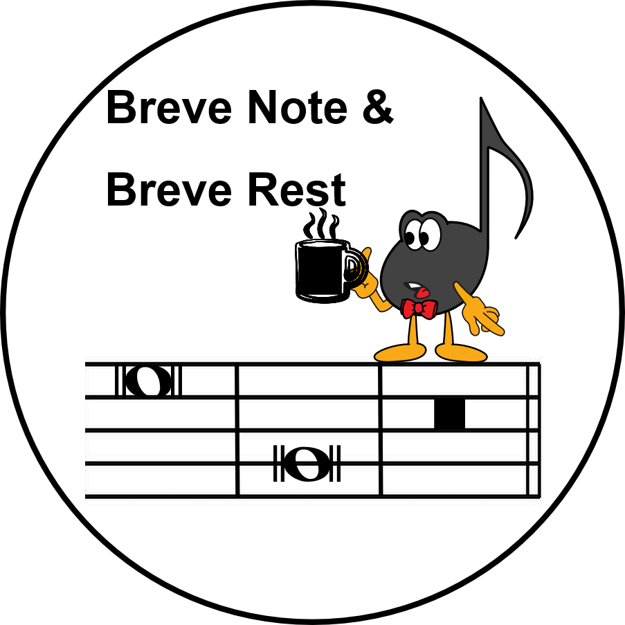 Ultimate Music Theory Breve note, Breve Rest