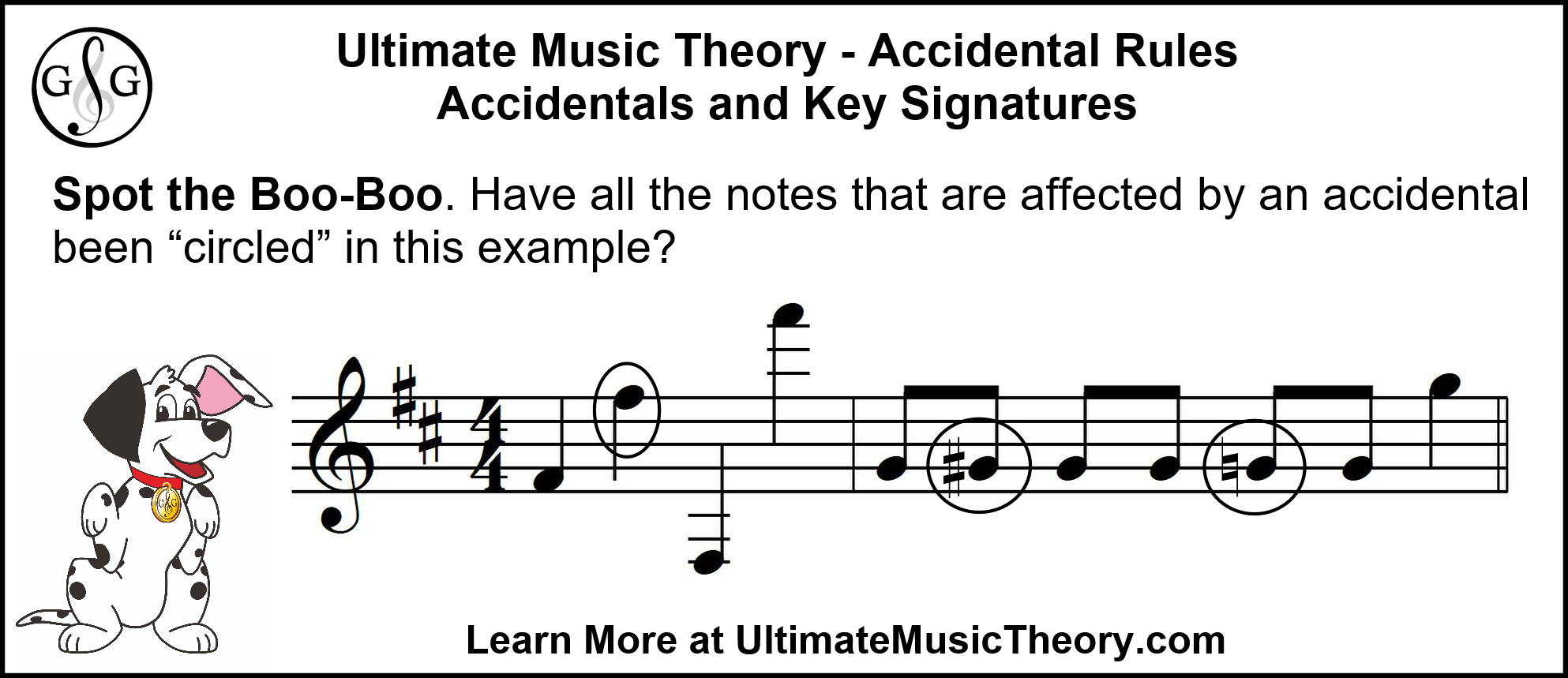 UMT Accidentals and Key Signatures - Spot the Boo Boo