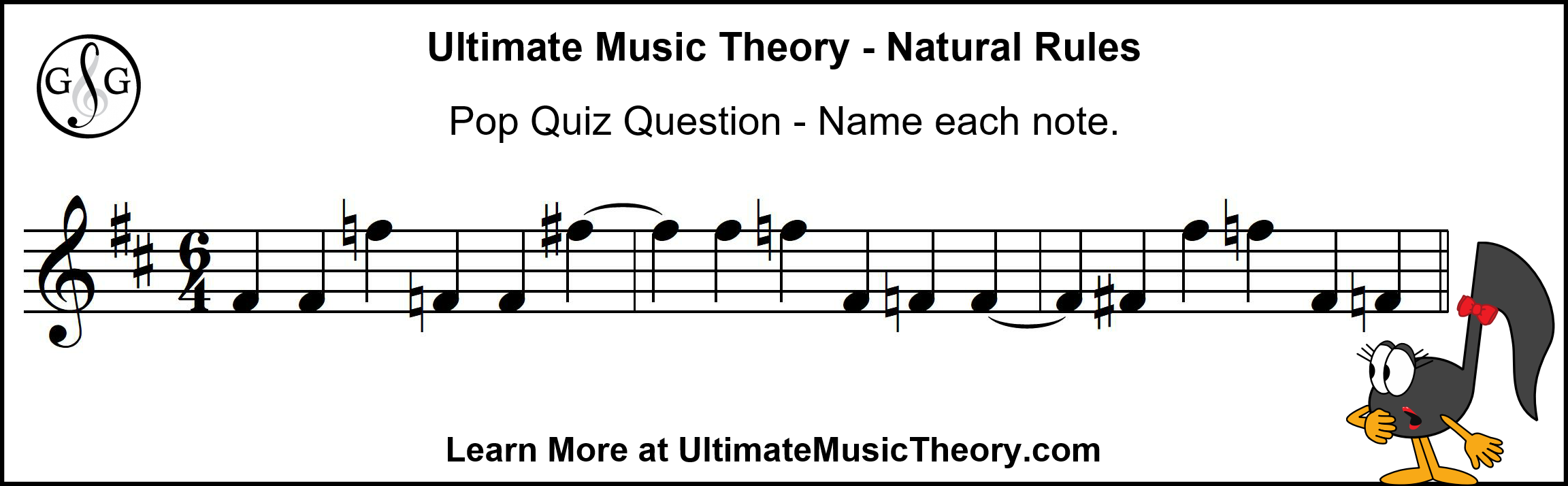 Ultimate Music Theory Natural Rules - Pop Quiz