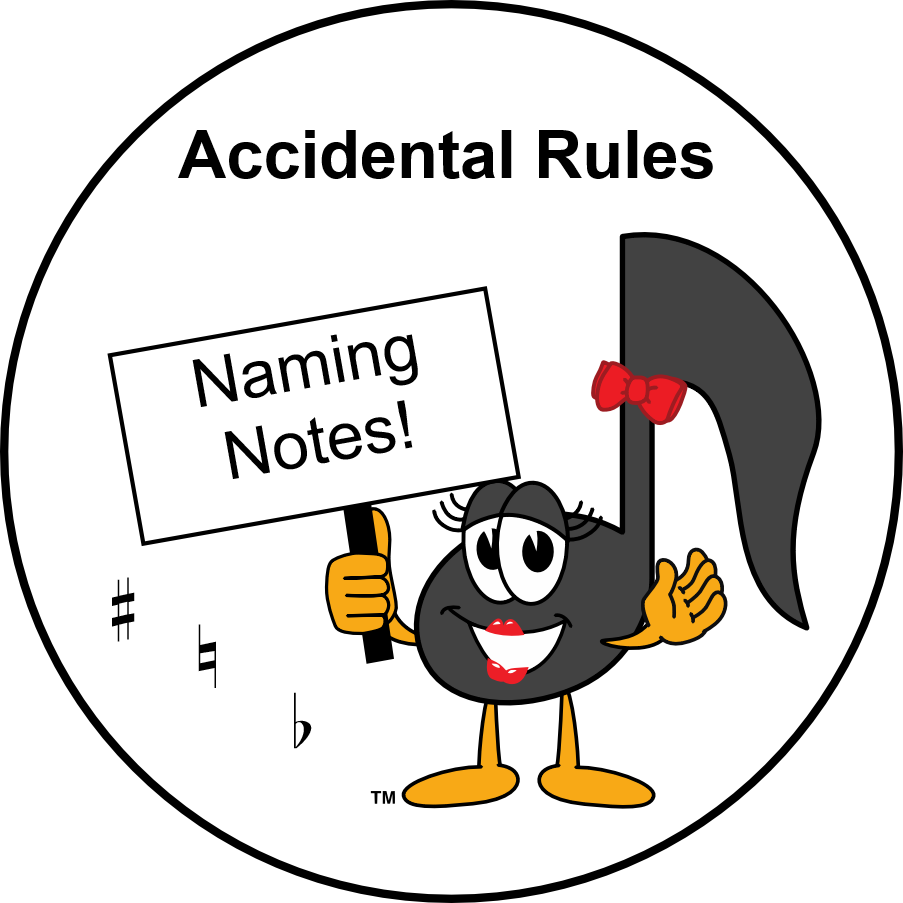 Ultimate Music Theory Accidental Rules - Naming Notes