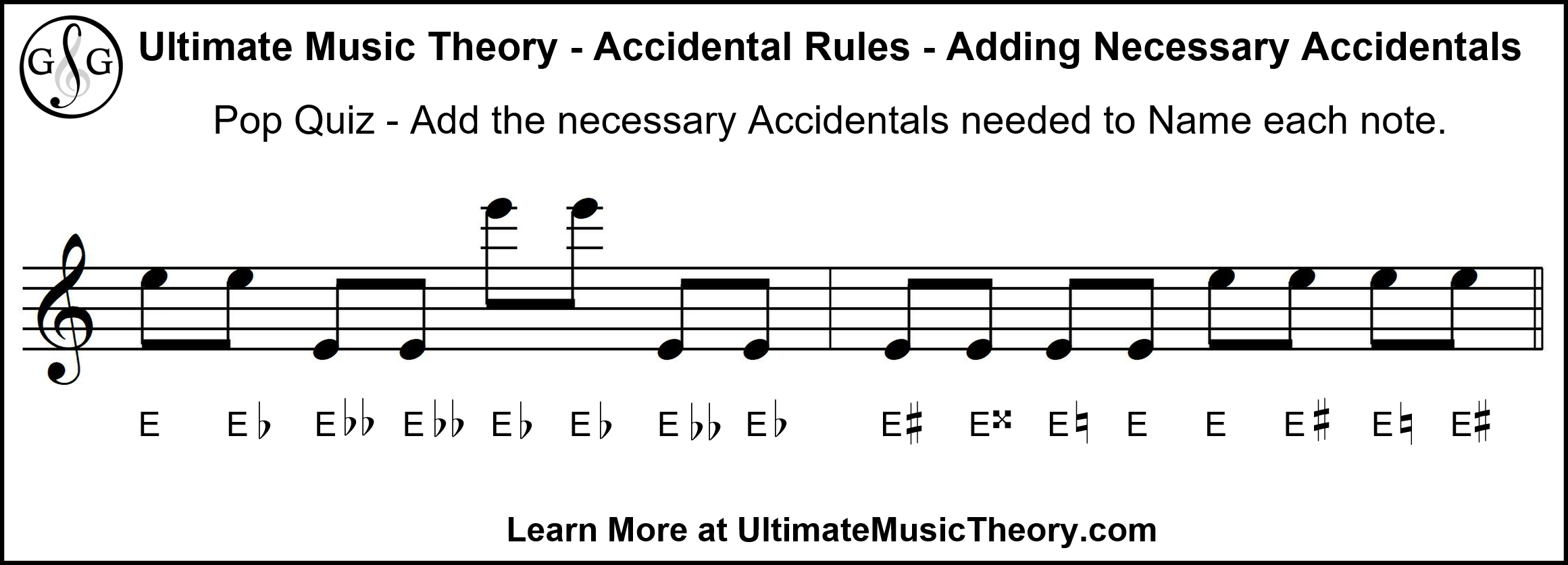 Ultimate Music Theory Pop Quiz Adding Necessary Accidentals