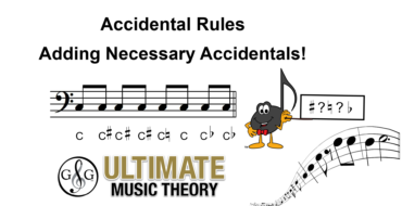 Accidental Rules – Adding Necessary Accidentals
