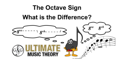 Octave Sign – 8va or 8vb – What is the difference
