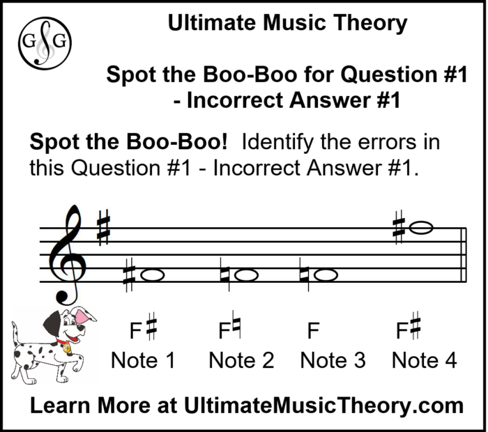UMT Writing Notes using Accidentals and Key Signatures Boo-Boo