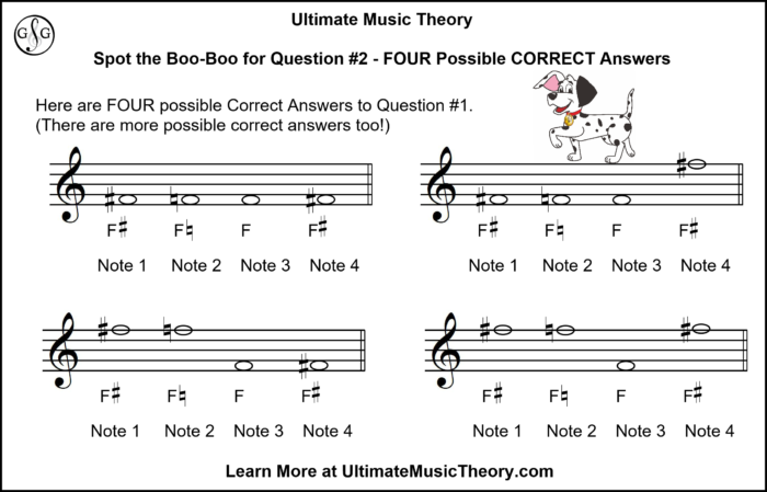 UMT Acidental Rules - Writing Notes using Accidentals and Key Signatures