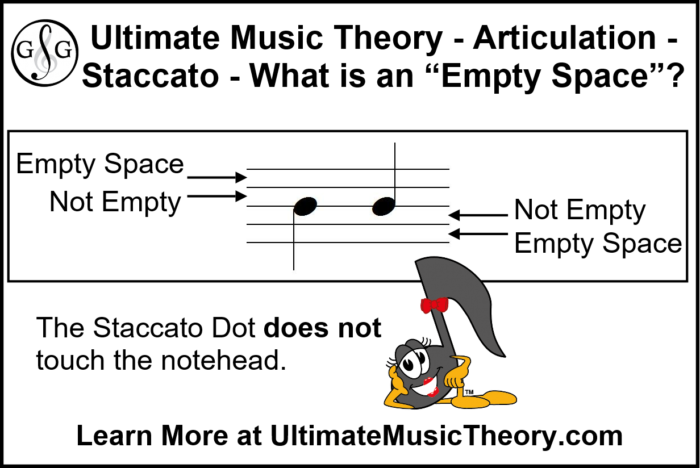 UMT Staccato Dot Empty Space