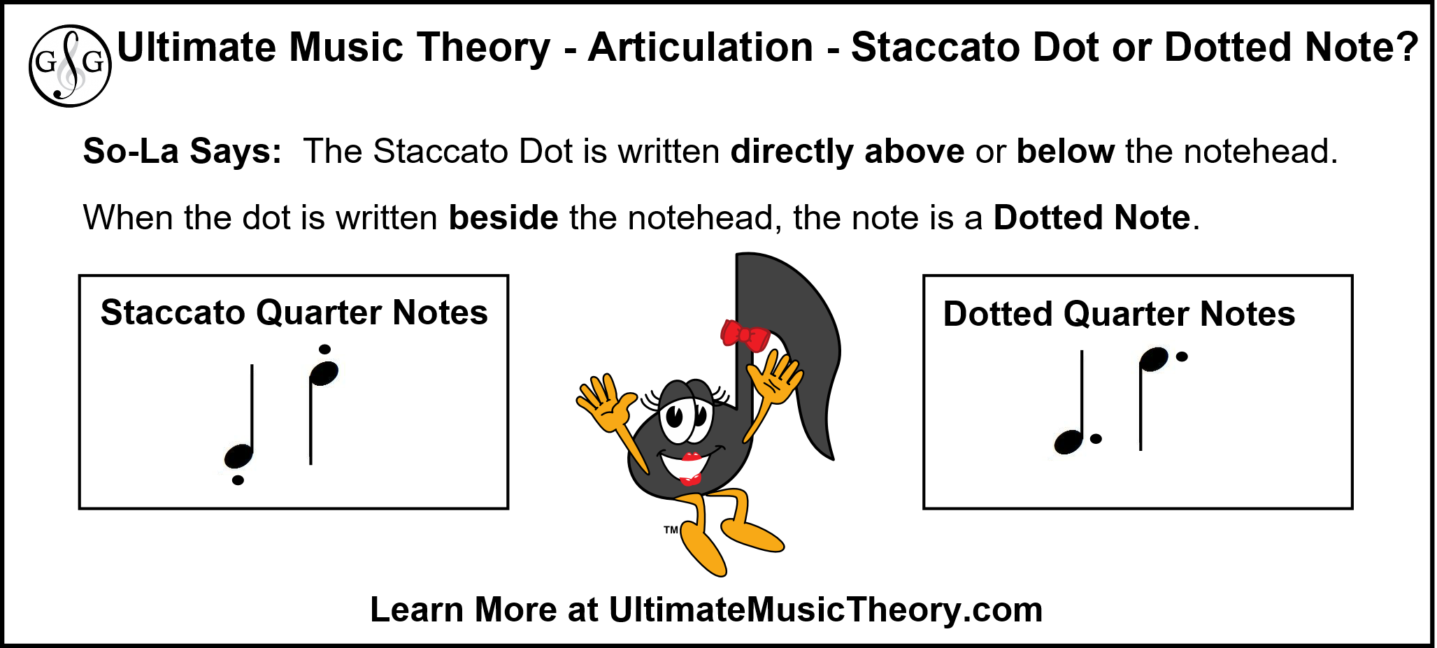 UMT - Staccato or dotted quarter note