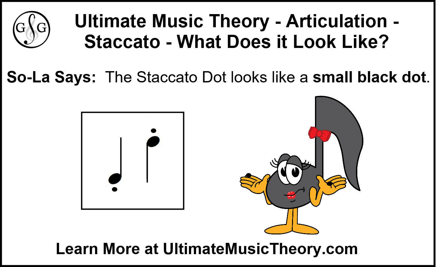 Articulation - Staccato dot