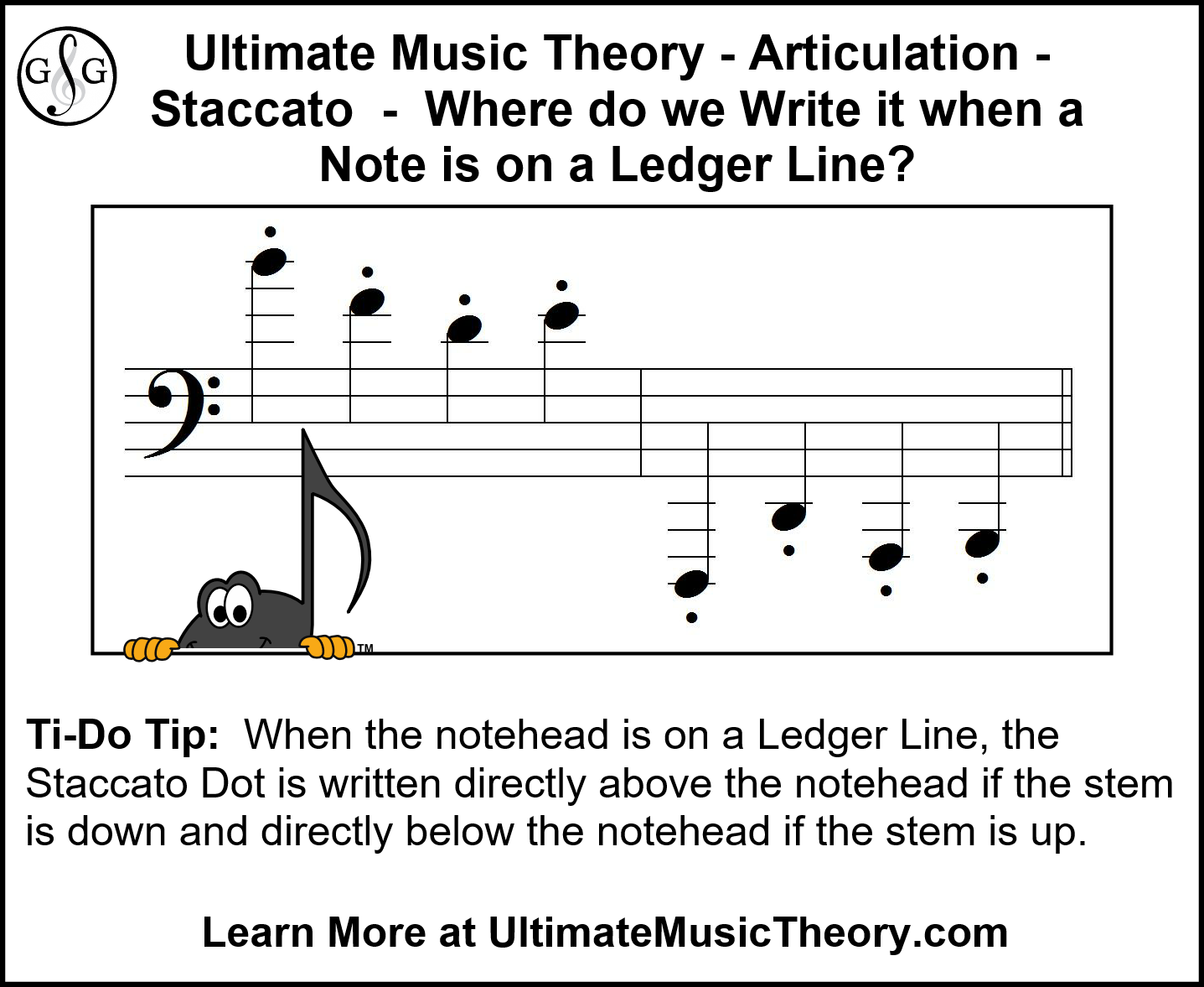 UMT Staccato dots and ledger line notes